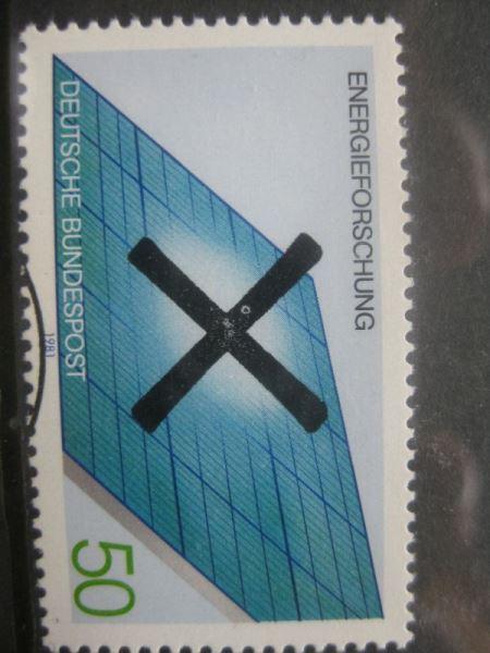 Bundesrepublik Michel-Nr. 1101 mit Andreaskreuz Entwertung Energieforschung