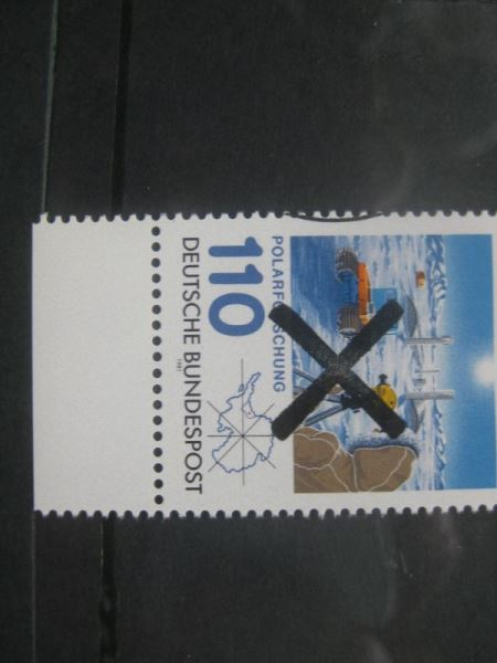 Bundesrepublik Michel-Nr. 1100 mit Andreaskreuz Entwertung Polarforschung