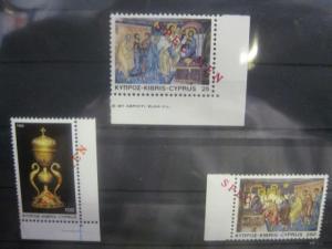 SPECIMEN Muster Mustermarken Zypern (gr.) Weihnachten 1982