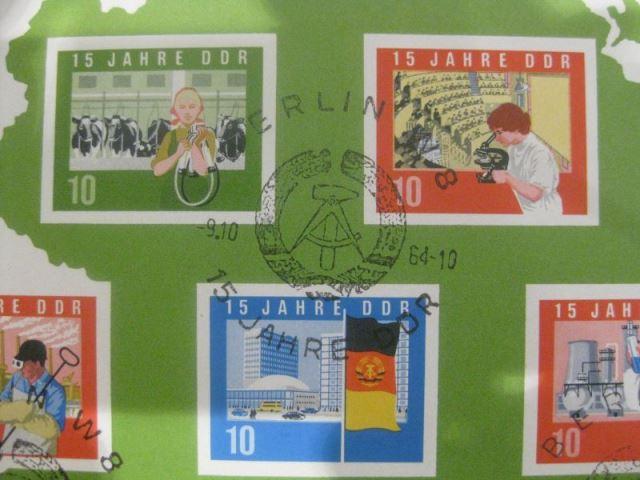 DDR Block 19 ;15 Jahre DDR; Großblock DIN A4 Ersttagssonderstempel