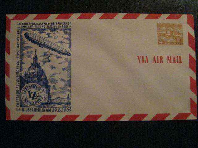 Berlin Privatganzsache Luftpostbrief mit LZ 3 - Motiv