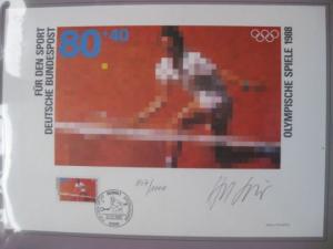Künstleredition ;Olympische Spiele 1988; Handsigniert und numeriert 807/1000