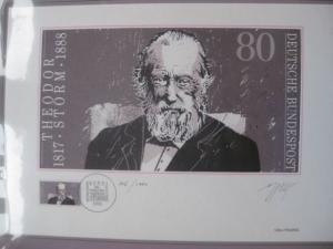 Künstleredition ;Theodor Storm von 1988; Handsigniert und numeriert 206/1000