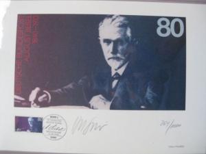 Künstleredition August Bebel von 1988; Handsigniert und numeriert 264/1000