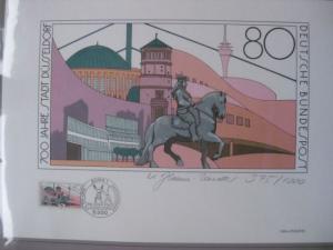 Künstleredition 700 Jahre Düsseldorf von 1988; Handsigniert und numeriert 375/1000