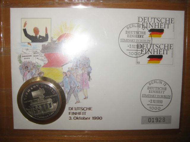 Numisbrief Deutsche Einheit 3. Oktober 1990