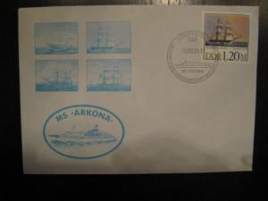 Schiffspostbrief DDR ;MS Arkona; vom 15.3.90 mit Schiffspost-Sonderstempel