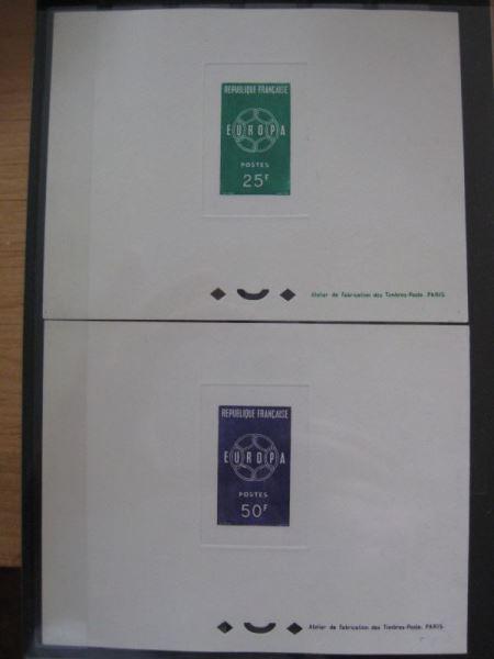 CEPT Frankreich 1959 Mi.-Nr. 1262-63 Epreuves de Luxe