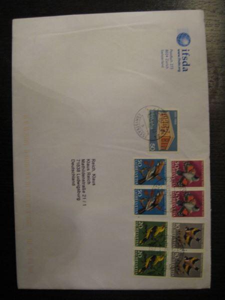 Din A5 Bedarfsbrief Des Intern Briefmarkenhändlerverbandes Aus Der