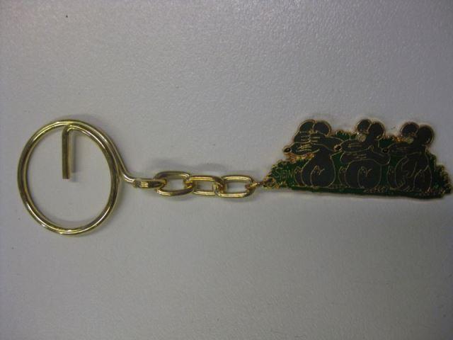 Uli Stein Schlüsselanhänger t; Drei Mäuse; aus Metall