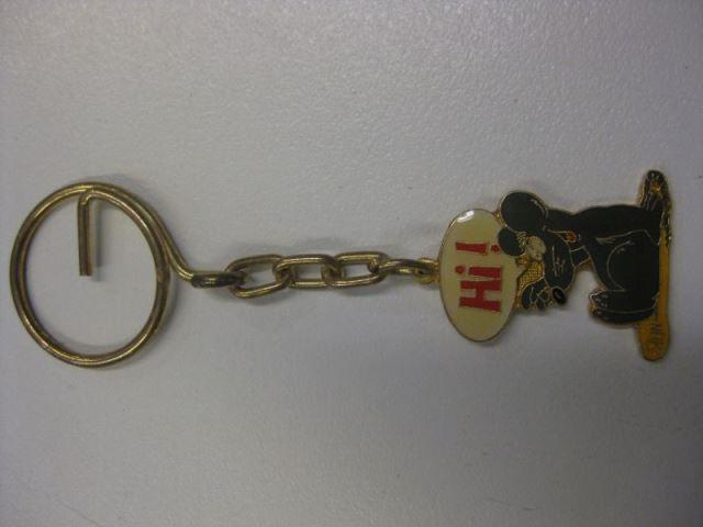 Uli Stein Schlüsselanhänger ;Maus mit Hi !; aus Metall