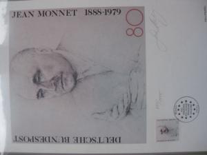 Künstleredition Jean Monnet von 1988; Handsigniert 647/1000