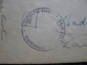 Feldpostbrief von Berlin (Stummer Stempel) nach Bad Driburg