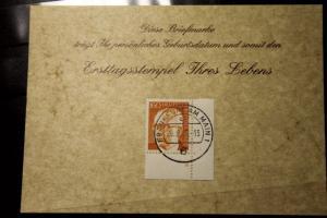 29.9.1977; Personalisierte Geburtstagskarte; Personalisierte Ersttagskarte; Personalisierte Geburtskarte