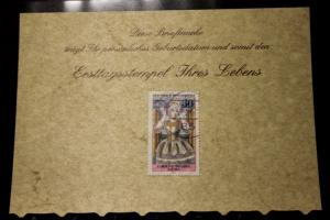 9.3.1977; Personalisierte Geburtstagskarte; Personalisierte Ersttagskarte; Personalisierte Geburtskarte