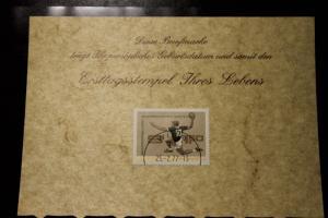 25.2.1977; Personalisierte Geburtstagskarte; Personalisierte Ersttagskarte; Personalisierte Geburtskarte