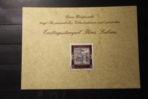 9.6.1978; Personalisierte Geburtstagskarte; Personalisierte Ersttagskarte; Personalisierte Geburtskarte