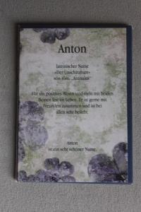 Anton, Namenskarte Anton, Geburtstagskarte Anton, Glückwunschkarte Anton, Personalisierte Karte   Anton