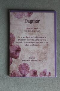 Dagmar, Namenskarte Dagmar, Geburtstagskarte Dagmar, Glückwunschkarte Dagmar, Personalisierte Karte   Dagmar