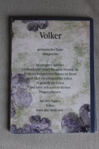 Volker, Namenskarte Volker, Geburtstagskarte Volker, Glückwunschkarte Volker, Personalisierte Karte   Volker