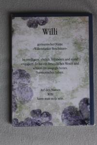 Willi, Namenskarte Willi, Geburtstagskarte Willi, Glückwunschkarte Willi, Personalisierte Karte   Willi