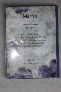 Martin, Namenskarte Martin; Geburtstagskarte Martin, Glückwunschkarte Martin, Personalisierte Karte   Martin