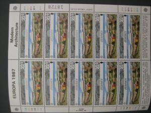 CEPT Kleinbogensatz Jersey 1987