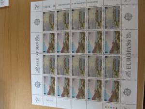 Kleinbogen KB CEPT 1986 Isle of Man ** Mi.-Nr. 307-10
