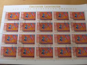 Kleinbogen KB Liechtenstein CEPT 1992 Mi.-Nr. 1033-34