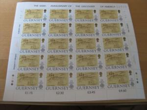 Kleinbogen KB CEPT 1992 Guernsey Mi.-Nr. 549-52 **