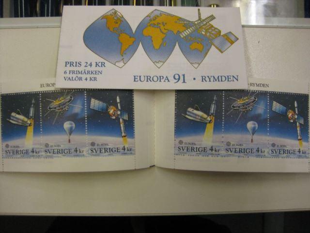 CEPT 1991 Schweden Markenheft MH 159 **