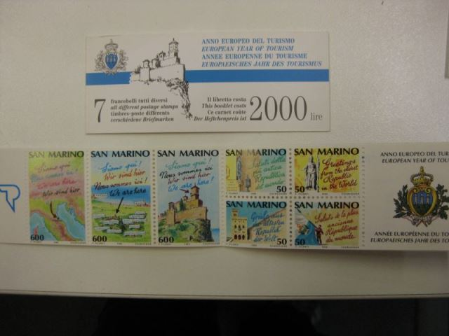 CEPT-Mitläufer-/Symphatieausgabe San Marino 1990 Markenheft MH 2