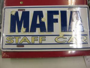 US Deko - Nummernschild MAFIA - Staff Car