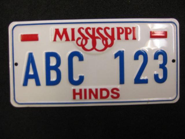 US Miniatur - Nummernschild Mississippi