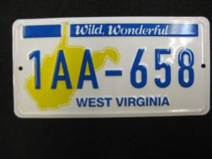 US Miniatur - Nummernschild West Virginia