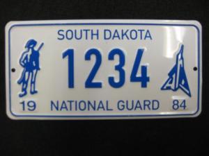 US Miniatur Nummernschild West Dakota