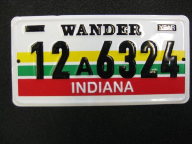 US Miniatur Nummernschild Indiana
