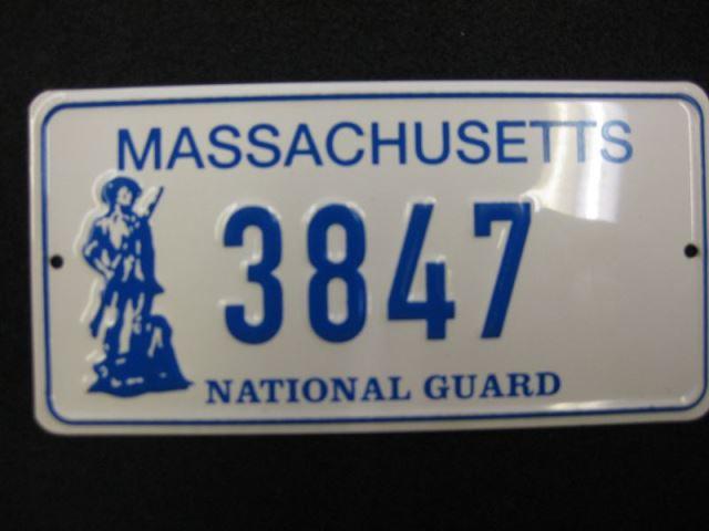 US Miniatur Nummernschild Massachusetts