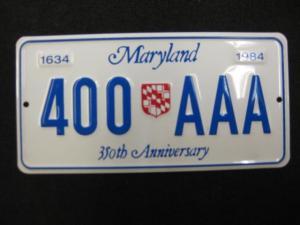 US Nummernschild Maryland