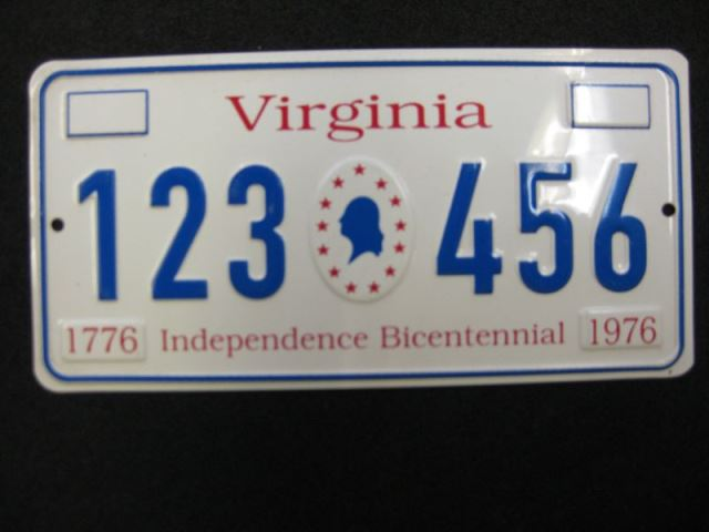 US Miniaturnummernschild Virginia