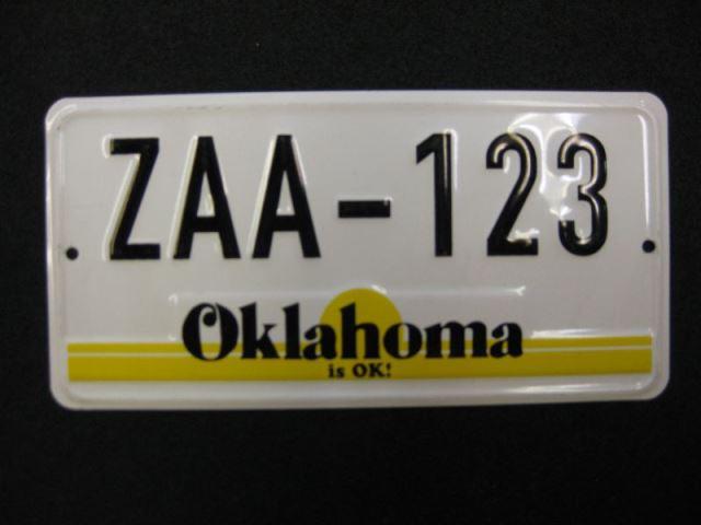 US Miniatur Nummernschild Oklahoma