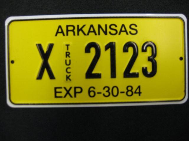 US Miniatur Nummernschild Arkansas