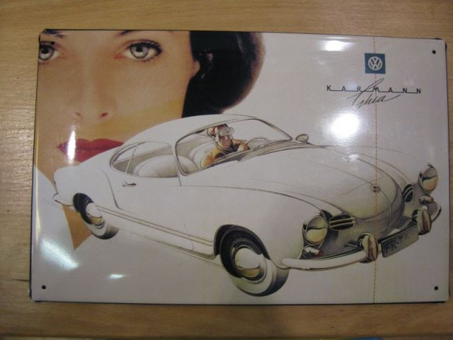 VW Karmann Ghia Werbeschild Reklameschild