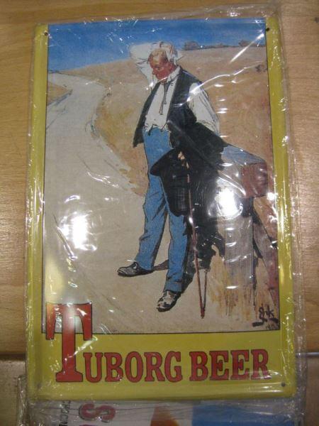 Tuborg Beer Bier Blechschild ,Werbeschild Reklameschild