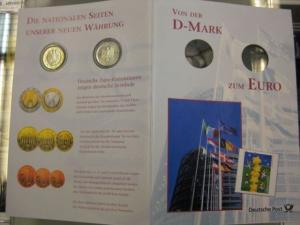 Erinnerungsblatt der Deutsche Post ;Von der D-Mark DM zum EURO