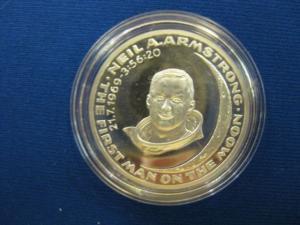 Silbermedaille Mondlandung Medaille aus Sterlingsilber