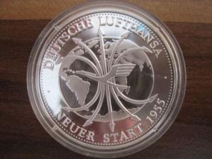 Silbermedaille Deutsche Lufthansa Medaille aus Sterlingsilber
