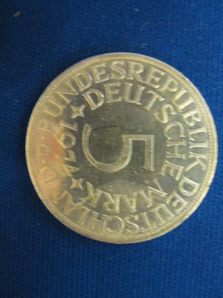 5 DM Kursmünze Silbermünze 1974 G Stg