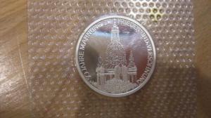 10 DM Silbermünze 50 Jahrestag der Zerstörung Dresdens 1995 J, PP