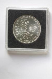 10 DM Silbermünze Olympische Spiele 1972 in München, 1972 F, stg